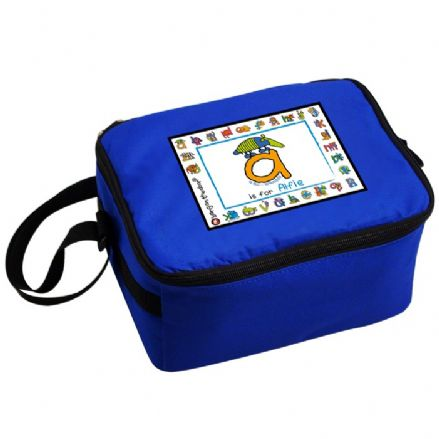 Personalised Bang On The Door Animal Alphabet Boys Lunch Bag